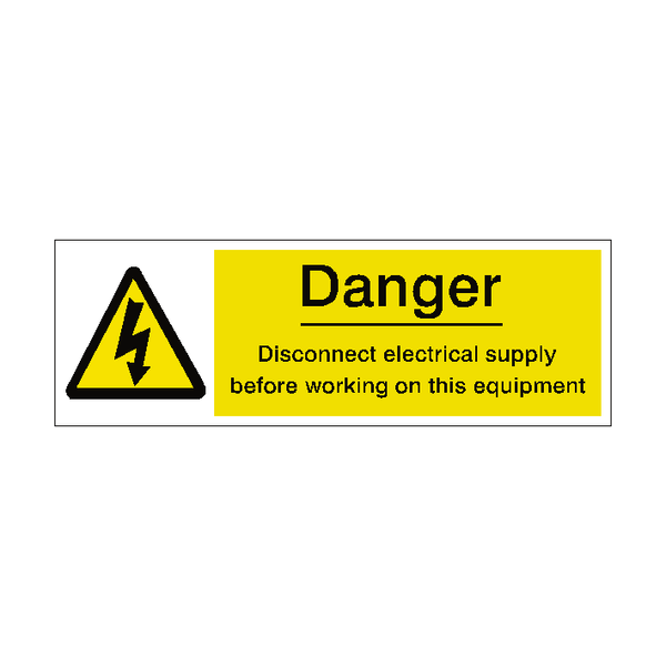 Isolate Main Supply Label | Safety-Label.co.uk