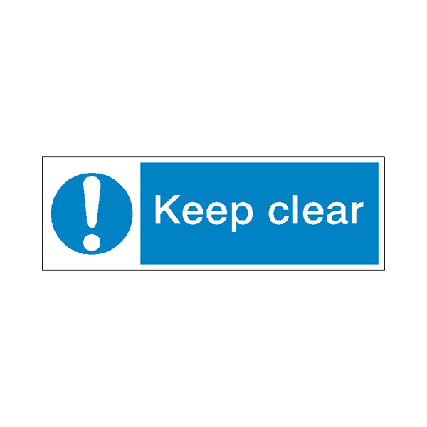 Keep Clear Safety Sign - Safety-Label.co.uk