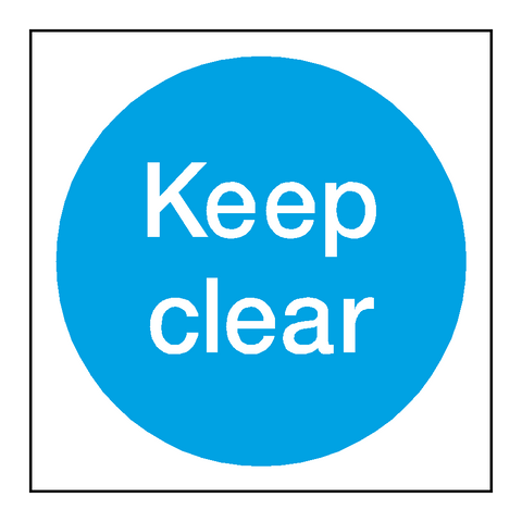 Keep Clear Door Sticker - Safety-Label.co.uk