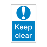 Keep Clear Sticker | Safety-Label.co.uk