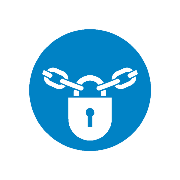Keep Locked Symbol Label | Safety-Label.co.uk