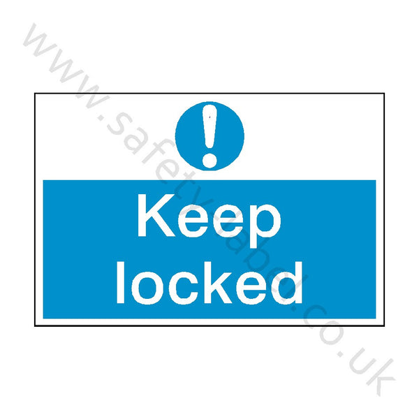Keep Locked Construction Site Sign - Safety-Label.co.uk