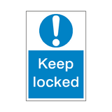 Keep Locked Sticker - Safety-Label.co.uk