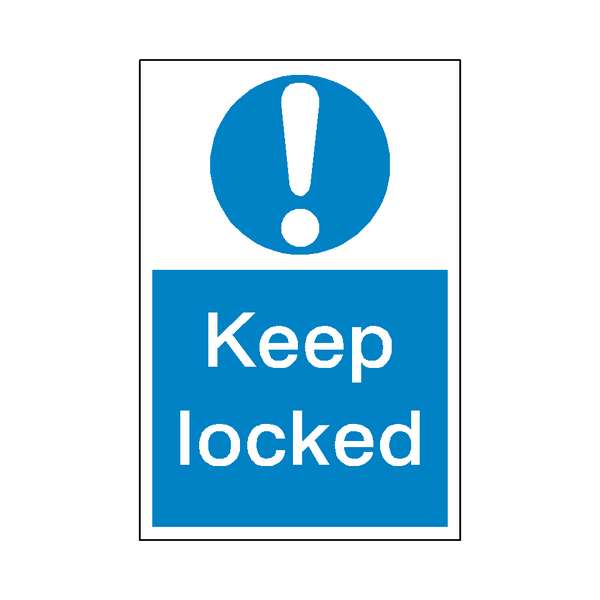 Keep Locked Sticker | Safety-Label.co.uk