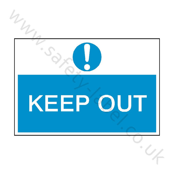 Keep Out Construction Site Sign | Safety-Label.co.uk