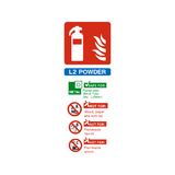 L2 Fire Extinguisher Sticker | Safety-Label.co.uk