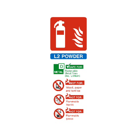 L2 Fire Extinguisher Sticker - Safety-Label.co.uk