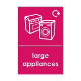 Large Appliances Waste Sticker | Safety-Label.co.uk