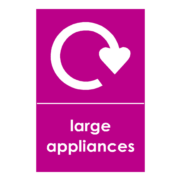 Large Appliances Sticker - Safety-Label.co.uk