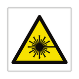 Laser Beam Hazard Symbol Label | Safety-Label.co.uk