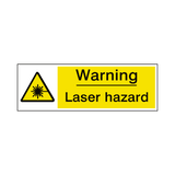 Laser Hazard Warning Sign | Safety-Label.co.uk