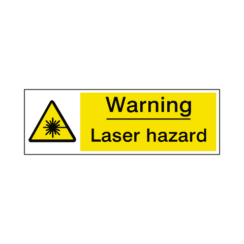 Laser Hazard Warning Sign - Safety-Label.co.uk