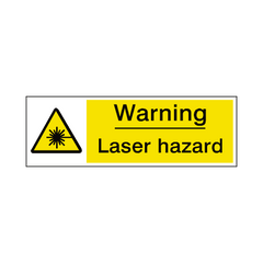 Laser Hazard Label - Safety-Label.co.uk