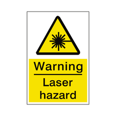 Laser Hazard Sign - Safety-Label.co.uk