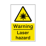 Laser Hazard Sticker | Safety-Label.co.uk