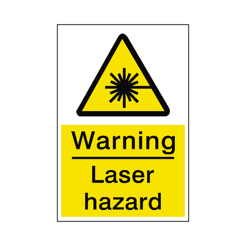 Laser Hazard Sticker - Safety-Label.co.uk