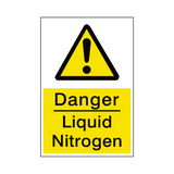 Liquid Nitrogen Safety Sticker | Safety-Label.co.uk