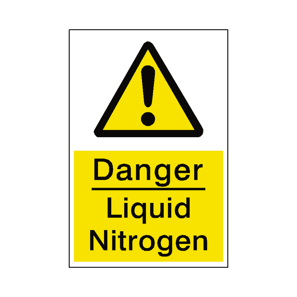 Liquid Nitrogen Safety Sticker - Safety-Label.co.uk