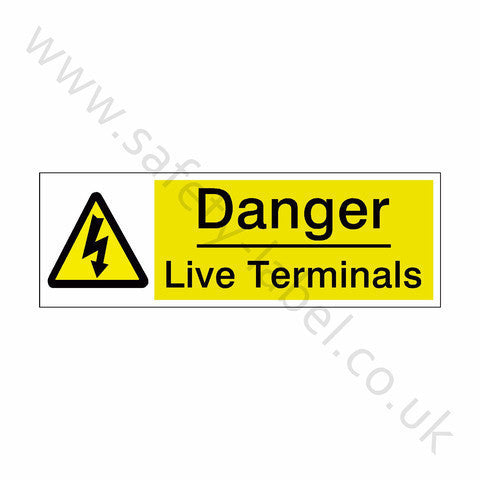 Live Terminals Sign - Safety-Label.co.uk