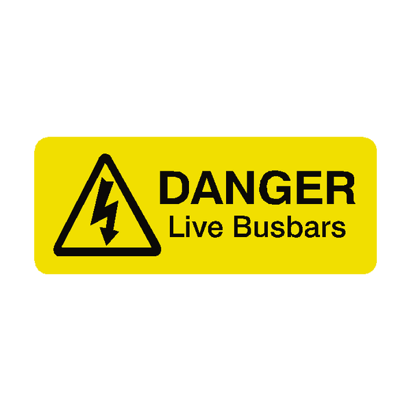 Live Busbars Labels Mini - Safety-Label.co.uk