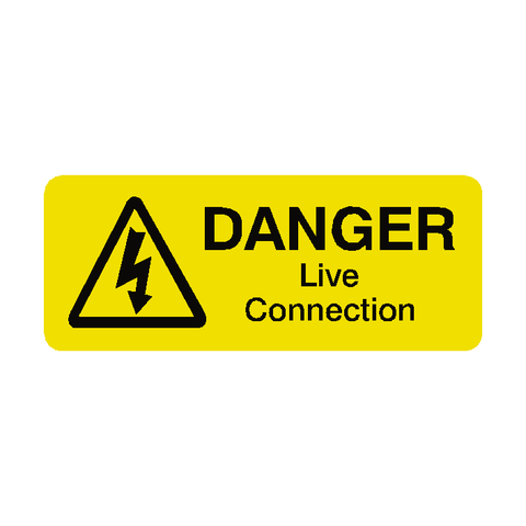 Live Connection Labels Mini - Safety-Label.co.uk