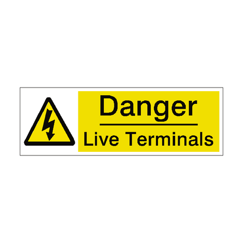 Live Terminals Label - Safety-Label.co.uk