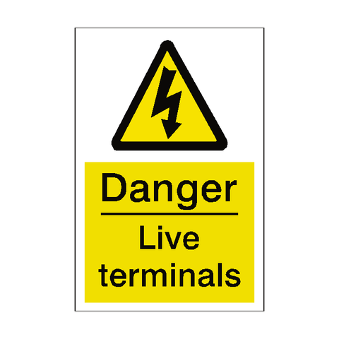 Live Terminals Sticker - Safety-Label.co.uk