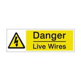 Live Wires Label | Safety-Label.co.uk
