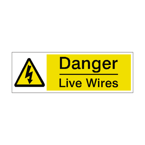 Live Wires Label - Safety-Label.co.uk