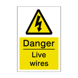 Live Wires Sticker | Safety-Label.co.uk