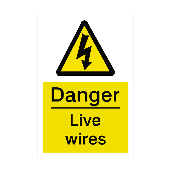 Live Wires Sticker - Safety-Label.co.uk