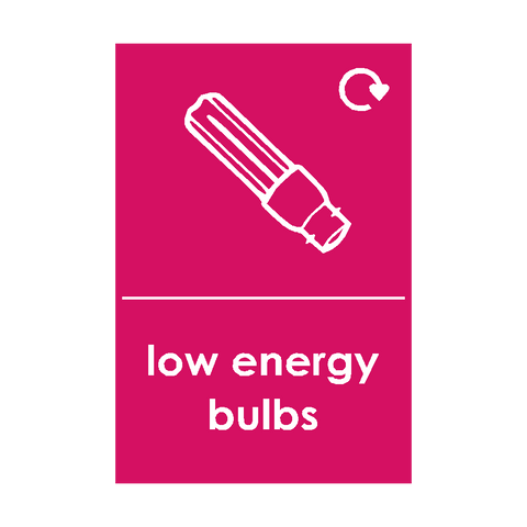 Low Energy Bulb Waste Sticker - Safety-Label.co.uk