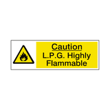 LPG Highly Flammable Warning Sign | Safety-Label.co.uk