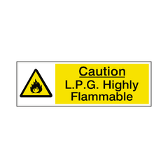 LPG Highly Flammable Warning Sign - Safety-Label.co.uk