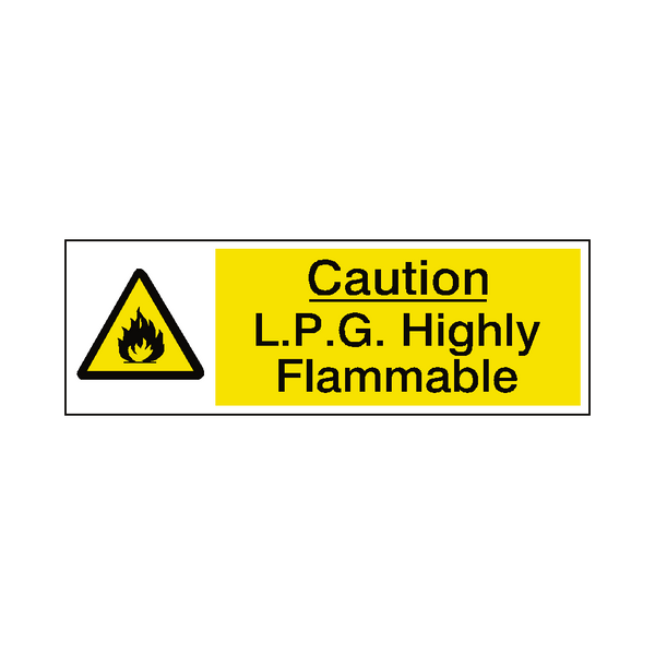 LPG Highly Flammable Label | Safety-Label.co.uk