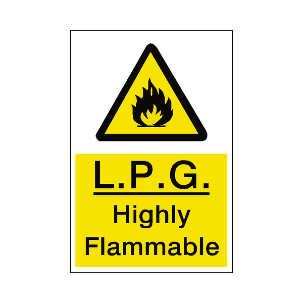 LPG Highly Flammable Hazard Sign | Safety-Label.co.uk
