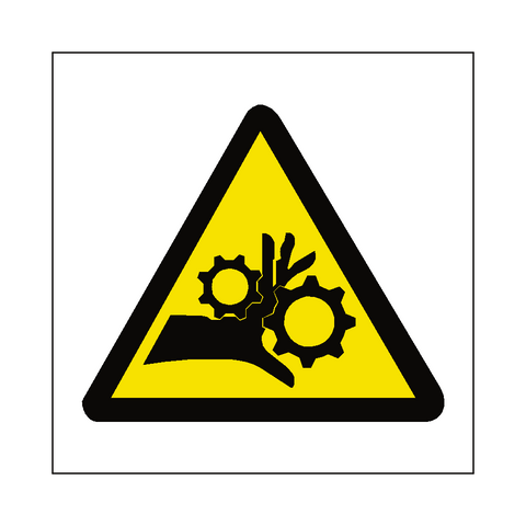 Machinery Crush Sign - Safety-Label.co.uk