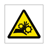 Machinery Crush Label - Safety-Label.co.uk