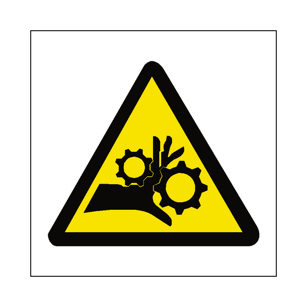 Machinery Crush Label Safety Label Co Uk Safety Signs