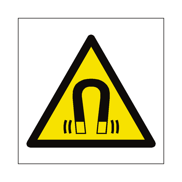 Magnetic Field Hazard Symbol Label | Safety-Label.co.uk