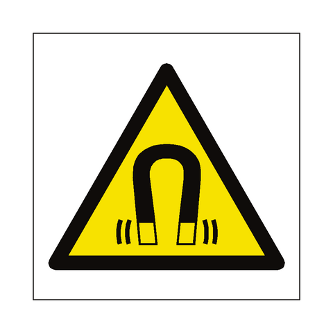 Magnetic Field Hazard Symbol Label - Safety-Label.co.uk