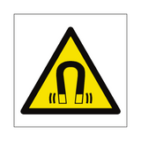 Magnetic Field Hazard Symbol Sign | Safety-Label.co.uk