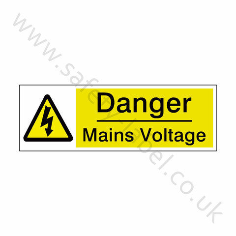 Mains Voltage Safety Sign | Safety-Label.co.uk