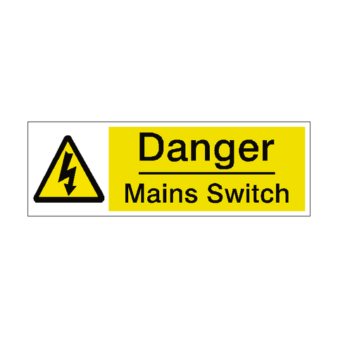 Mains Switch Label - Safety-Label.co.uk