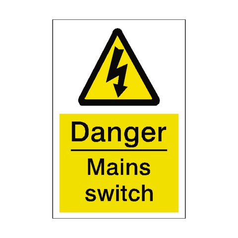 Mains Switch Sticker - Safety-Label.co.uk