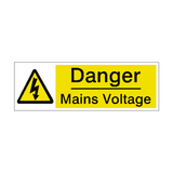 Mains Voltage Label - Safety-Label.co.uk