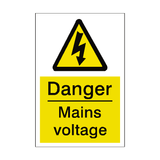 Mains Voltage Sticker - Safety-Label.co.uk