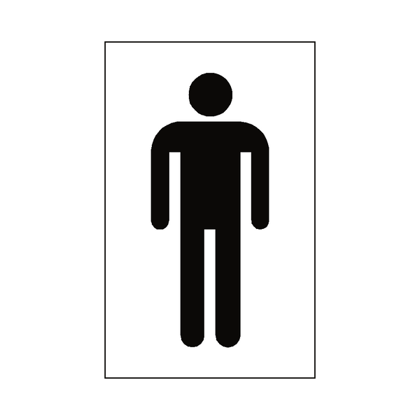 Male Toilet Sticker - Safety-Label.co.uk