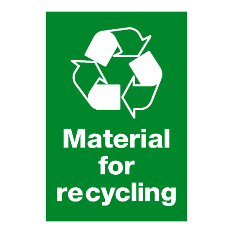 Material For Recycling Sign | PVC Safety Signs | Health and Safety Signs