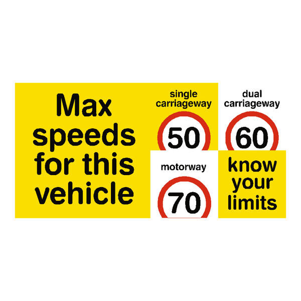 Max Speed Limit Vehicle Sticker | Safety-Label.co.uk